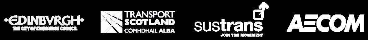 Logos - The City of Edinburgh Council, Transport Scotland, Sustrans and Aecom