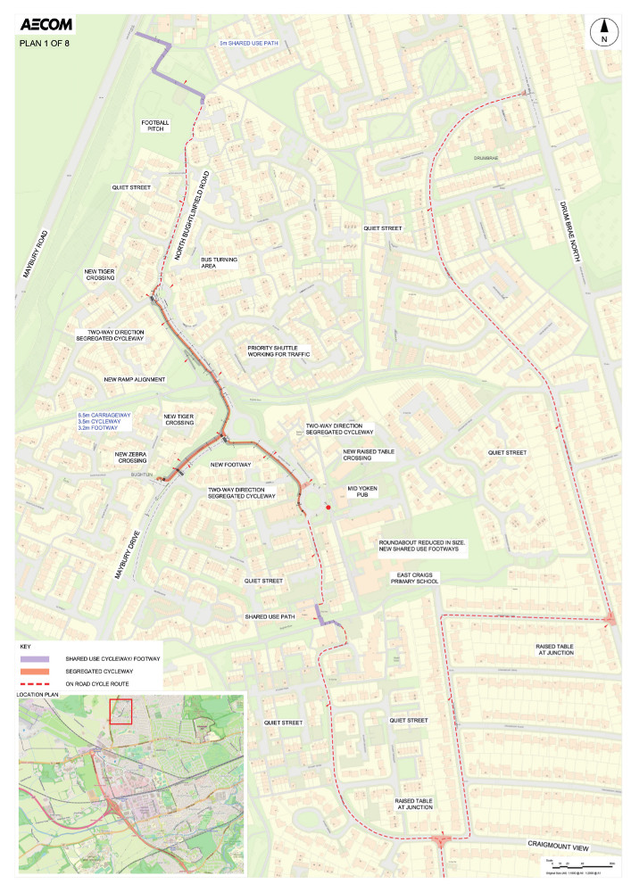 Proposed design for West Edinburgh Link - plan 1 of 8