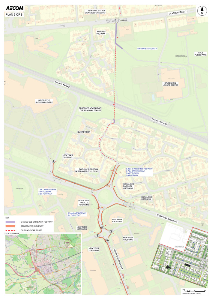 Proposed design for West Edinburgh Link - plan 3 of 8