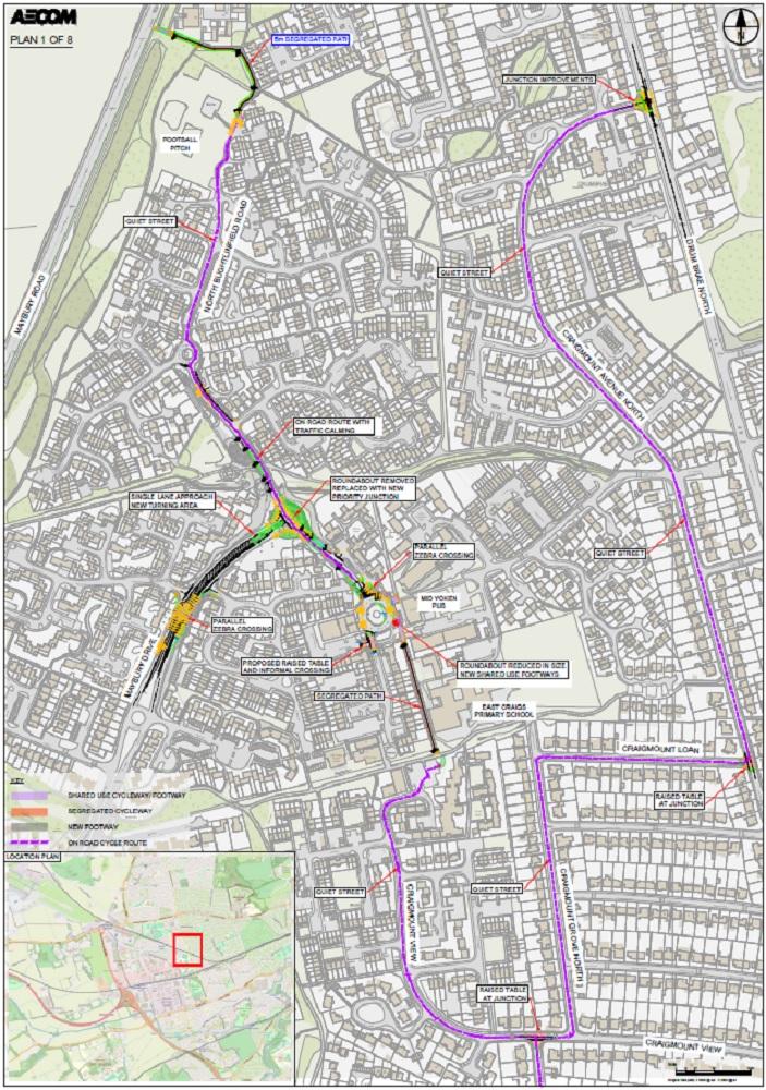 Proposed design for West Edinburgh Link - plan 1 of 8